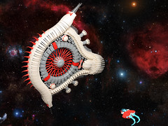 Space Fish (Sheo.) Tags: lego moc space spaceship shiptember scifi thatsnomoon