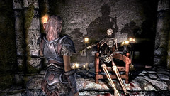 Isla finds Malyn (Rain Love AMR) Tags: skeleton skyrim pc gaming screenshot screencap malynvaren azurasstar ilinaltas deep theblackstar daedricquest shadow shadows altmer highelf armor