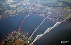 Forth Road, Forth Rail and Queensferry Crossing Bridges, Firth of Forth, Scotland (Kev Slade Too) Tags: firthofforth forthroadbridge forthrailbridge queensferrycrossing scotland airtoground