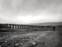 Ribblehead Viaduct (Charlie Little) Tags: ribbleheadviaduct railways blackandwhite landscape bw huawei p20pro cameraphone mobilephotography