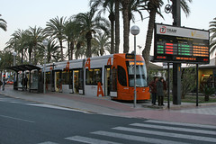 Plaza Puerta Del Mar, Alicante, April 1st 2010 (Southsea_Matt) Tags: 4230 tram lightrail metro alicante spain plazapuertedelmar fgv canon 10d march 2010 spring bombardier flexity outlook