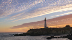 Whaler's Cove (Dancing.With.Wolves) Tags: color lighthouse sunset witness lights waves ocean 2018 california coast otters swell surf cove whale history beauty thankful pigeon point cliffs sand hostel