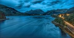 Looking to Glencoe (Photeelover) Tags: scotland lochleven loch mountains longexposure bluehour ballachulish glencoe