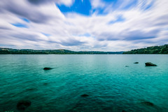 Sea and Clouds (gabormatesz) Tags: england unitedkingdom lakedistrict lake lakeside lakeview canon canon80d 1018mm wideangle multipleexposure longexpo clouds cloudscape