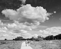 Op weg naar het einde (andzwe) Tags: engelgaarde clouds senioren wolken zwartwit blackandwhite landscape landschap drentenetherlands nederland nederlandslandschap nederlands pad panasonicdmcgh4 meppel drsp curve bocht opwegnaarheteinde atoombom beeldend atombomb netherlands
