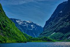 entrance to Gudvagen (Norway-Noruega) (Carlos M. M.) Tags: gudvagen norway noruega hdr sony sonyalpha6000 fjord fiordo montaña mountain naturaleza nature sky clouds