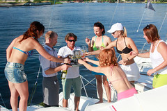 KRYC CUP 2014-4431 (amprophoto) Tags: sail sailing sailingyacht sailboat yachtrace regatta water wind white blue beneteau platu25 peoples sky sport spinnaker fun smile
