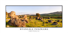 Wyangala Panorama (sugarbellaleah) Tags: rural country landscape panorama outback hills rocks wyangala countryside treels morning clouds sky grass fields paddocks centralwest australia green