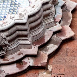 historic fountain detail