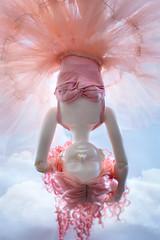 Sweet_Dreams_02 (Rebecca in FL) Tags: clouds sky dreaming pinkhair bjd unoa sist fairyskin tulle pink sleeping doll bjdphotography fairytale