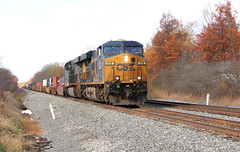 Still Some Color on the Trees (craigsanders429) Tags: csx csxtrains csxnewcastlesubdivision ravennaohio csxlocomotives csxmotivepower intermodaltrains csxintermodaltrains autumn autumncolors autumnfoliage autumncolor fallfoliage fall fallcolors fallfoliagephotography