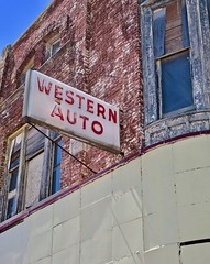 Western Auto, Saginaw, MI (Robby Virus) Tags: saginaw michigan mi abandoned derelict western auto lonnies lounge blocks buildings architecture sign signage commercial