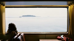 (Jill Slater) Tags: 35mm film canonae1 canonfd canonfd35mmf2ssc agfavista200 ferry ven hven denmark sweden danmark sverige window boat øresund öresund