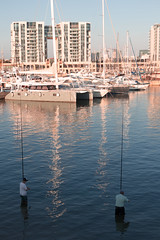 Vertical (Ivona & Eli) Tags: israel herzliya building people yachts sea marina water angling angler