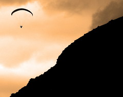 Paraglider (gcobb84) Tags: people sky glider flying mountain landscape travel toned ngc