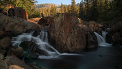 Waterfall on the Truckee River (Middle aged Nikonite) Tags: truckee river cisco grove california nikon d750 outdoor nature landscape water waterfall flowing boulder long exposure