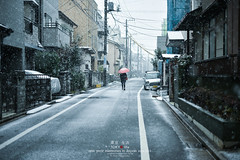 Walking in the Snow (Pop_narute) Tags: itabashi tokyo japan snow snowy day street life walk drop white people japanese city cityscape town road winter