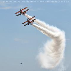 8023 Wingwalkers with Chinook (photozone72) Tags: eastbourne airshows aircraft airshow aviation canon canon7dmk2 canon100400f4556lii 7dmk2 wingwalkers aerosuperbatics boeing stearman biplane chinook chinookdisplay wokka raf