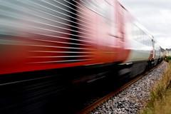 The 3.15 (gcobb84) Tags: speed train moving fast blur lines travel movement red