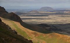 Helgafell (hó) Tags: helgafell grænavatnseggjar reykjanesskagi volcanic landscape mountain slope shadows light lava august 2018
