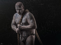 Man of Clay (sengsta) Tags: clay forme portrait studio earth body physique