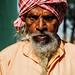 Scowling Man in Turban & Dreadlocked Beard