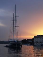 Sail away (Splitti68) Tags: europa europe kroatien brac milna maritim boot segelboot segelschiff ship sonnuntergang sunrice meer hafen port
