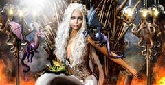 Daenerys Targaryen (meriluu17) Tags: hextrordinary astralia ysys arcade got gameofthrones series mother motherofdragons khaleesi daenerys targaryen stormborn andals queen fantasy dragon people surreal portrait throne iron oronthrone swords