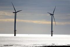 Wind Turbines J78A0572 (M0JRA) Tags: wind turbines sky clouds blue architecture ships cargo sea waves sand boats docks pilot spray