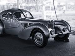 Bugatti Type 57 Atlantic (PAJ880) Tags: audi atlantic type 57 riveted mono bw lakeville ct lime rock park bugatti show
