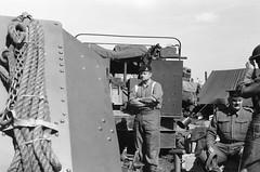 21st Anti Tank Regiment, Guards Armoured Div - Victory Show 2018. (JAY 420) Tags: fomapan 100 135mm zorki film bw blackandwhite livinghistory victoryshow ww2 wwii reenacting british army royalartillery antitank display marketgarden
