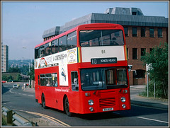 NT81, Lady`s Lane (Jason 87030) Tags: leyland olypian doubledecker red livery county ladyslane kingsheath 1988 september side scan old classic northants northamptonshire olympian eastlancs body bodied transport nt bus 10 route service wheels shot a81rrp nice birthday 30 history frame border curtains publictransport