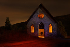 Spooky Stone Butter church (vanessa_macdonald) Tags: old church ruins haunted spooky lightpainting lights creative colours urbex urbanexploring urban exploring night nocturnal abandoned
