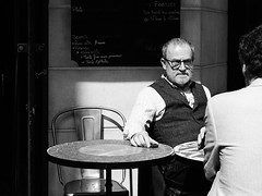 Time to Tell . (kitchou1 Thanx 4 UR Visits Coms+Faves.) Tags: france cityscape paris street people city landscape bw europe exterior world nb spring