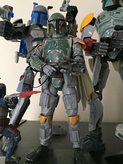 Bandai's Boba Fett (njgiants73) Tags: 1 slave jedi return hope new back strikes empire wars star build kit bandai fett boba