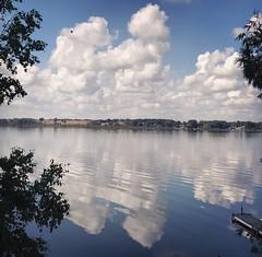 (scienceduck) Tags: iphone cellphone reflection cloud sky littlebritain lakescugog lake scugoglake scugog ontario canada september scienceduck 2018