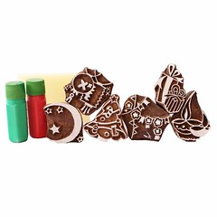 Wooden Festive Stamps (mywowstuff) Tags: gifts gadgets cool family friends funny shopping men women kids home
