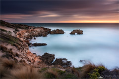 Bridgewater Bay (Darkelf Photography) Tags: bridgewater bay mornington peninsula australia victoria seascape landscape rocks clouds longexposure travel outdoors shore coast evening dusk sunset moody canon nisi 1635mm 5div maciek gornisiewicz darkelf photography 2018