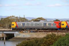 Half and half (Aussie foamer) Tags: 3027 3000classrailcar railcar transadelaide adelaidemetro suburbantrain passengertrain portriverbridge ethelton southaustralia train railway