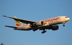 Ethiopian ET726. Boeing 777-260(LR). ET-ANR. (Themarcogoon49) Tags: ethiopian airlines boeing b777 aircraft landing gva lsgg cointrin airport switzerland avgeek planespotting avion ciel aviation
