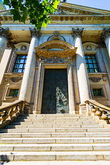 A neoclassic facade (Raoul Pop) Tags: stone relief pediment historic transom staircase descriptor portico material structure berlin germany emblem stonework sculpted facade neoclassic time eaves object balusters column architecture technology metal de