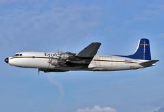 N555SQ Douglas DC-6B Everts Air Cargo (Keith B Pics) Tags: n555sq dc6 douglas canoneos n37585 sisq tgaviation anc panc anchorage keithbpics dc6b tedstevens pwr2800 cargo everts unitedairlines mainliner