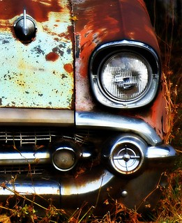 rust, glass, and chrome