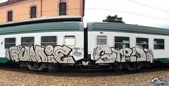 FUMIE STRO (StrangeSpotter) Tags: graffiti graff traingraffiti train streetart street italy ctrl painted graffitiart graffititrain