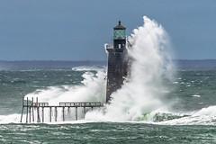 Monster Wave at Ram Island Ledge Lighthouse (BenjaminMWilliamson) Tags: awe coast huge image inspirational inspiring landscape lighthouse me maine massive newengland noreaster northatlantic ocean photography powerful prints ramislandledgelight scenery scenic surf usa wave