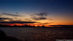 Sunset (umakantht) Tags: ottawariver ottawa ontario canada river sunset water sun sky clouds orange nikon d810 nikkor1424mmf28