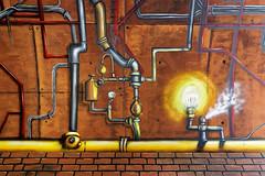 Wandmalerei Bahnhof Köln-Ehrenfeld (guentersimages) Tags: köln kunst graffitikunst graffiti wandmalerei streetart stadt städte bahnhof ehrenfeld stadtteil