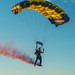 U.S. Navy parachute team leap during Springfield Navy Week.