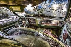 Urbex forgotten car (Jante01) Tags: urbex forgotten car hdr canon lost interior abandoned american