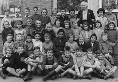 Class photo (theirhistory) Tags: boy children kid girl school class form pupils trousers jumper shoes wellies teacher boot